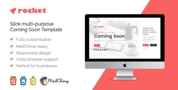 Rocket - Responsive Multi-Purpose HTML5 Coming Soon Template            TFx