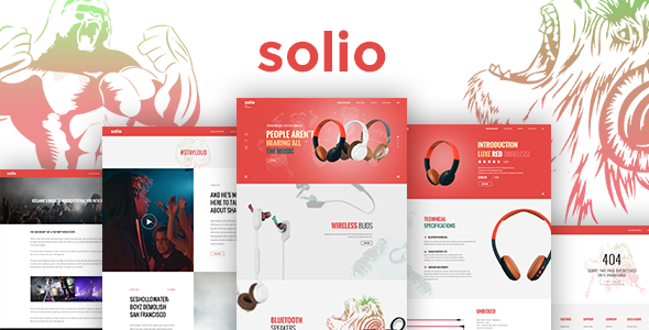 SOLIO - Music Brand Headset HTML5 Template            TFx