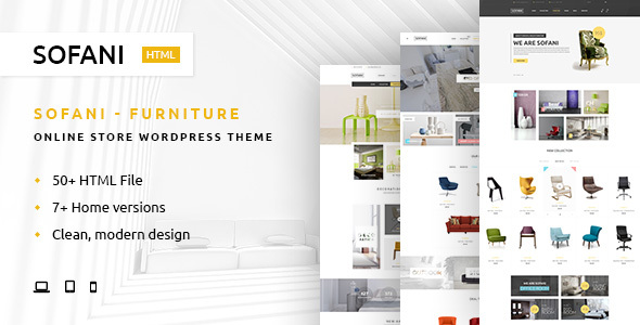 Sofani - Furniture Store HTML Template            TFx