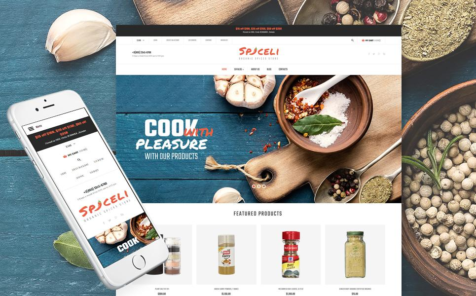 Spice Shop Responsive VirtueMart Template TMT