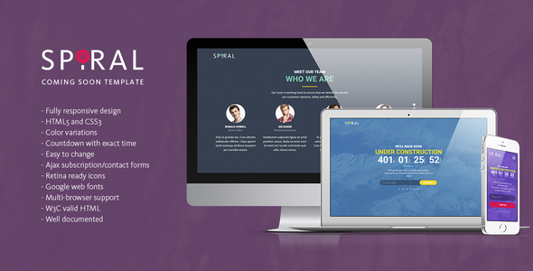 Spiral - Under Construction Page Template            TFx