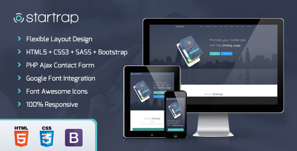 Startrap - Mobile App Landing Page            TFx