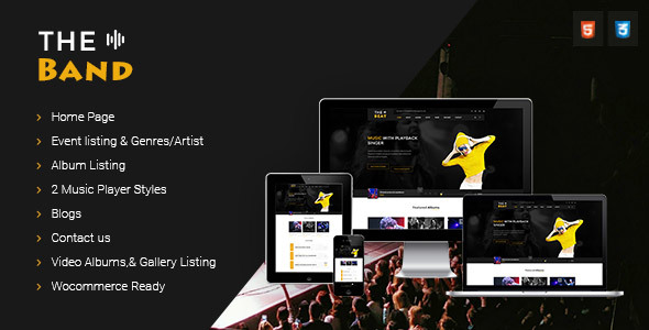 TheBand Music Band Html Template            TFx