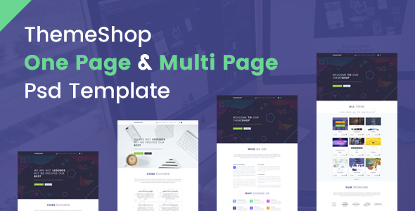 ThemeShop - One Page & Multi Page PSD Template            TFx
