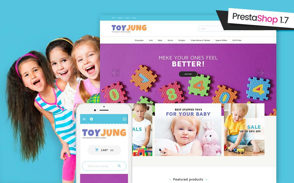 Toy Store Responsive PrestaShop Theme TMT