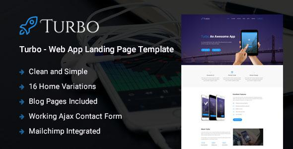 Turbo - Responsive Bootstrap Web App Landing Page Template            TFx
