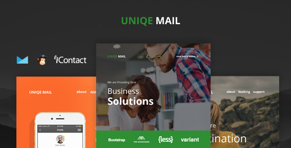 Uniqe Mail - Responsive Email set + Online Access            TFx