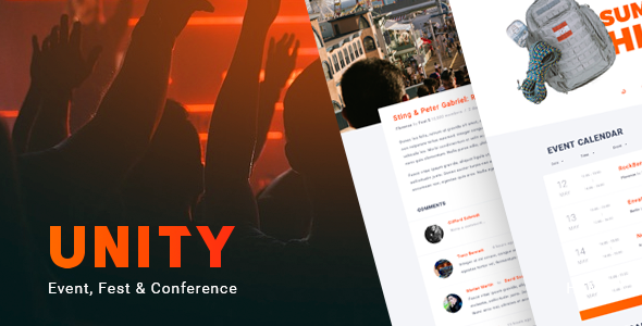 Unity – Event, Fest & Conference HTML Template            TFx