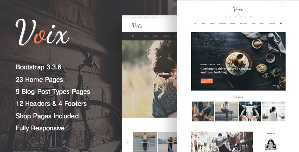 VOIX - Clean & Modern, Responsive Personal Blogging HTML5 Template            TFx