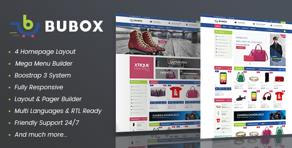 Vina Bubox - VirtueMart Joomla Template for Online Stores            TFx