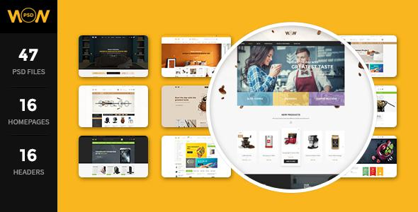 WOW - MultiStore PSD Template            TFx