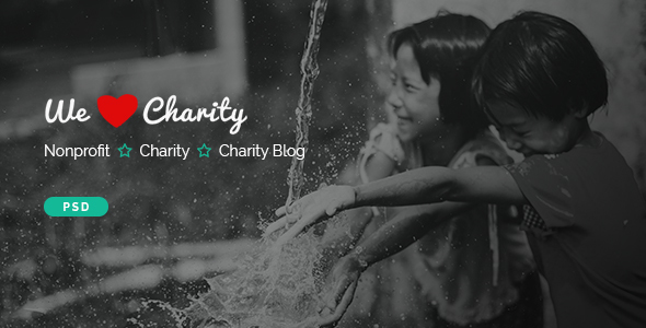 WeCharity - Charity/Nonprofit PSD Template            TFx