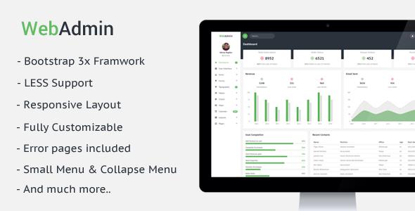 Webadmin - Responsive Admin Dashboard Template            TFx