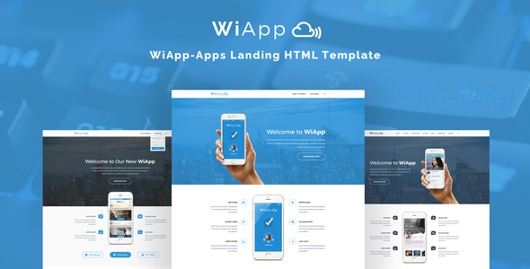 WiApp-Apps Landing HTML Template            TFx