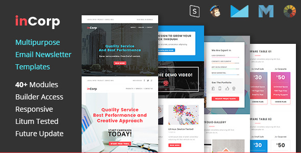 inCorp - Corporate Email Newsletter Templates            TFx