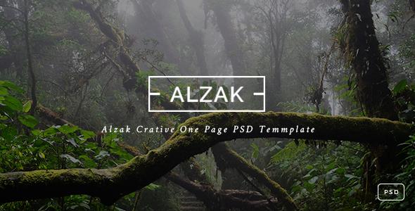 ALZAK - One Page Creative PSD            TFx