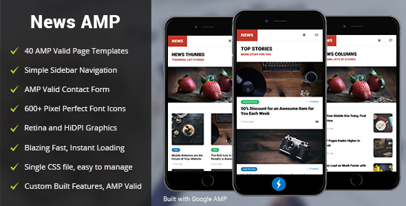 AMP News Mobile | Google AMP Mobile Template            TFx