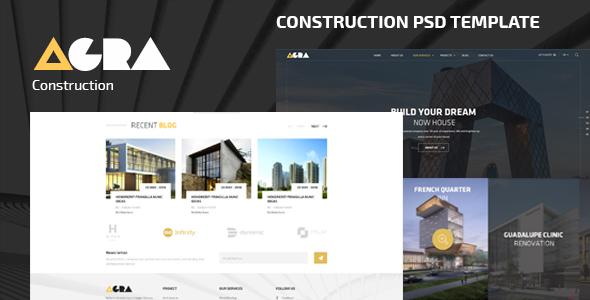 Agra | Construction Business PSD Template            TFx
