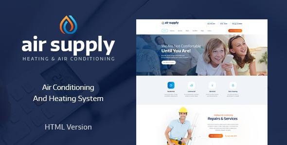 Air Conditioning and Heating Services Site Template            TFx