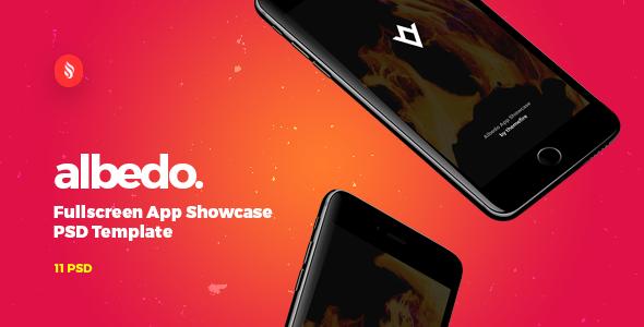 Albedo - Full Screen App Showcase PSD Template            TFx
