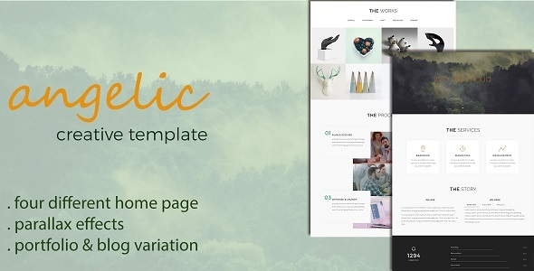Angelic - One Page Creative Template            TFx