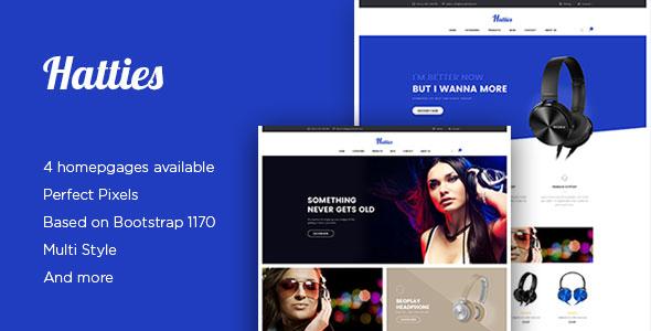 Ap Hatties - eCommerce PSD Template            TFx