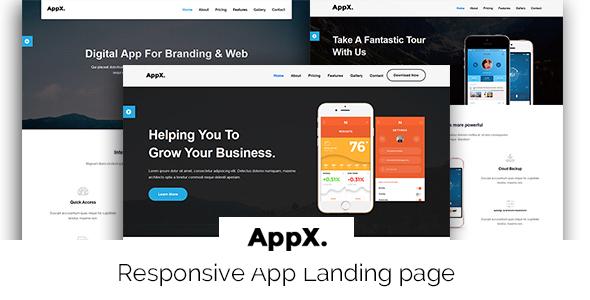 AppX-app Landing template            TFx
