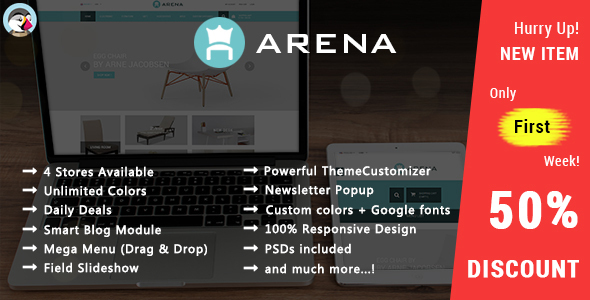 Arena - Responsive Prestashop Theme            TFx
