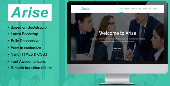 Arise Multipurpose HTML Landing Template            TFx