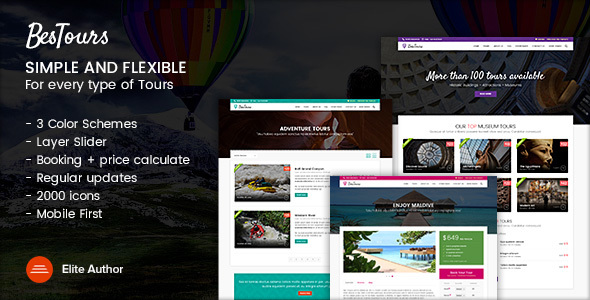BESTOURS - Tours, Excursions and Travel multipurpose template            TFx