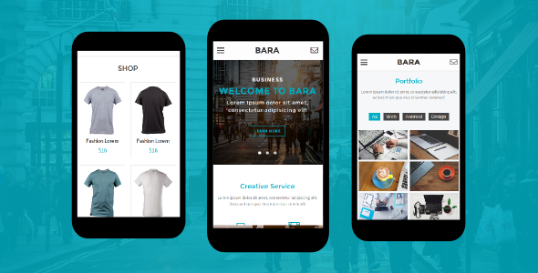Bara - Creative Mobile Template            TFx