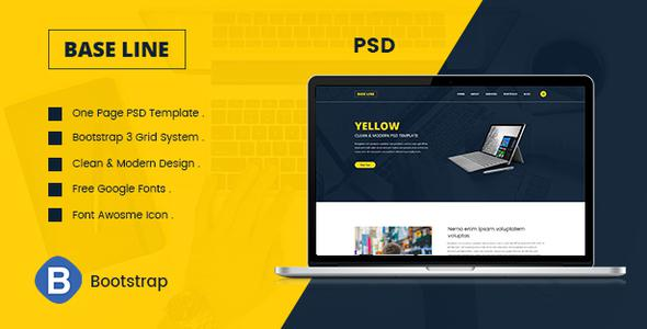 Base Line | Multipurposes One Page PSD Template            TFx