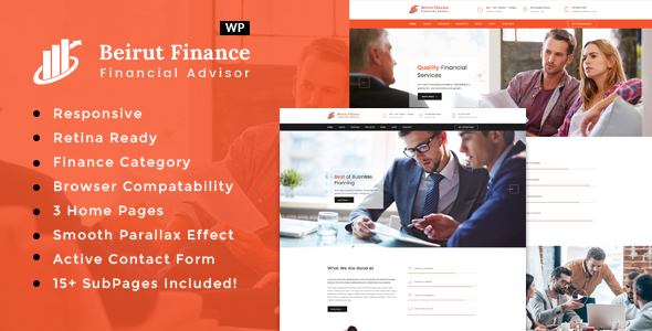Beirut : Business, Finance and Consultancy WordPress Theme            TFx