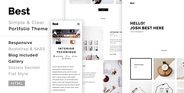 Best - creative, clean, modern portfolio template            TFx