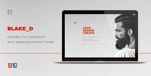 BlakeD - Portfolio & Resume Template            TFx