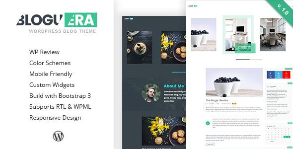 Bloguera - Responsive WordPress Personal Blog Theme            TFx