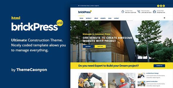BrickPress - Construction & Building HTML5 Template            TFx