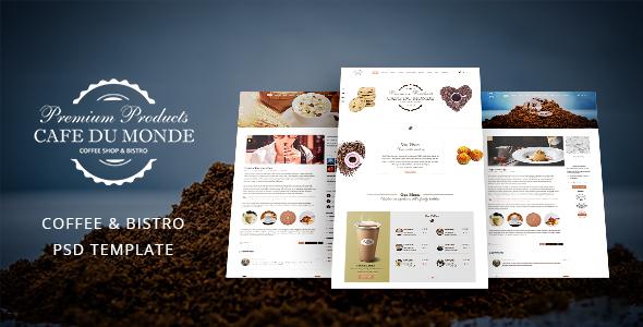 Cafe du Monde - Onepage Cafe & Bistro Template            TFx