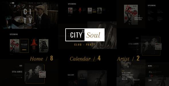 CitySoul Music WordPress Theme - Nightclub Party Bars Lounge            TFx