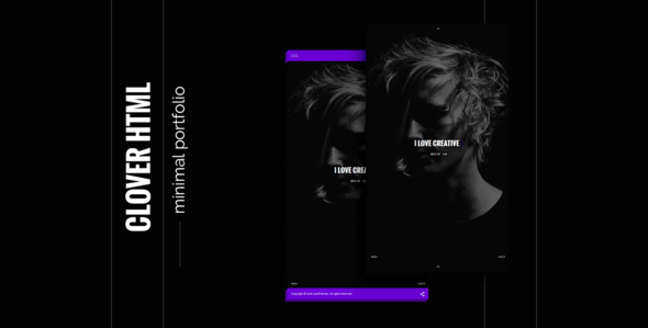 Clover - creative and modern template html5            TFx