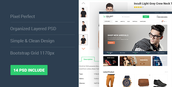 Collect - Fashion eCommerce PSD Template            TFx
