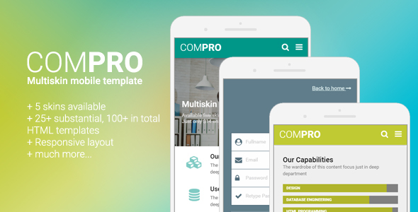 Compro - Mobile Multiskin Template            TFx