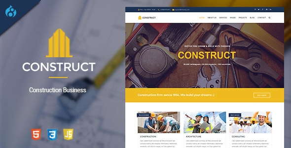 Construct - Drupal 8 Construction & Business Theme            TFx