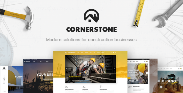 Cornerstone - A Professional Construction, Builder & Contractor Theme            TFx