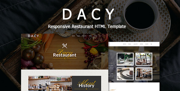 Dacy - Responsive HTML Template for Restaurant            TFx