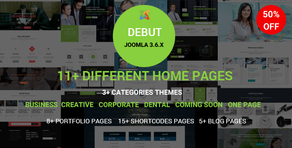 Debut - The Multi-Purpose Responsive Joomla Theme            TFx
