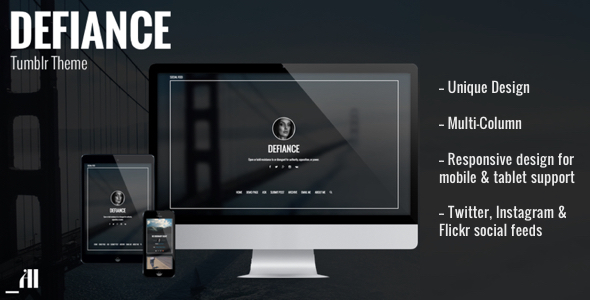 Defiance - Unique & Daring Tumblr Theme            TFx