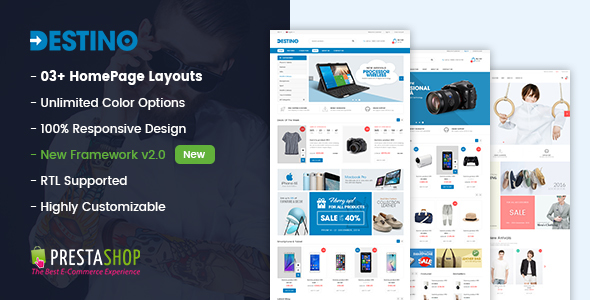 Destino - Digital/Fashion Store PrestaShop 1.7 Theme            TFx