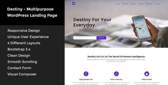 Destiny - Multipurpose WordPress Landing Page            TFx