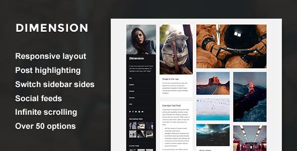 Dimension - A Responsive Sidebar Theme            TFx
